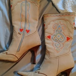 Hand painted Charlie Horse boots